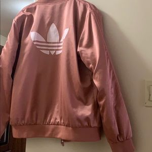 women's dusty pink adidas bomber. Worn once.